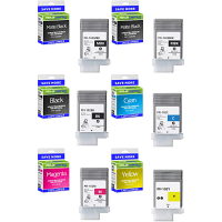 Premium Compatible Canon PFI-102 Multipack Set Of 6 Ink Cartridges (PFI-102MBK /MBK/BK/C/M/Y)
