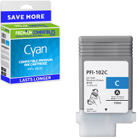 Premium Compatible Canon PFI-102C Cyan Ink Cartridge (0896B001AA)
