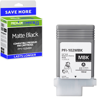 Premium Compatible Canon PFI-102MBK Matte Black Ink Cartridge (0894B001AA)