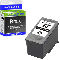 Premium Remanufactured Canon PG-40 Black Ink Cartridge (0615B001)