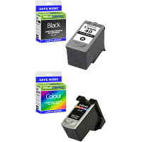 Premium Remanufactured Canon PG-40 / CL-41 Black & Colour Combo Pack Ink Cartridges (0615B043)