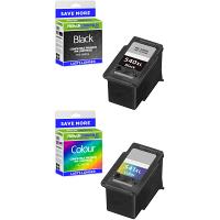 Premium Remanufactured Canon PG-540XL / CL-541XL Black & Colour Combo Pack High Capacity Ink Cartridges (5222B013)