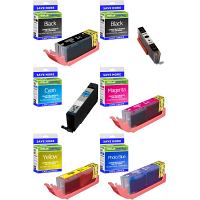 Premium Compatible Canon PGI-580XXL / CLI-581XXL Multipack Set Of 6 Extra High Capacity Ink Cartridges (1970C001/ 1998C001/ 1995C001/ 1996C001/ 1997C001/ 1999C001)