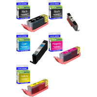 Premium Compatible Canon PGI-580XXL / CLI-581XXL PGBK, C, M, Y, K Multipack Extra High Capacity Ink Cartridges (1970C001/ 1998C001/ 1995C001/ 1996C001/ 1997C001)