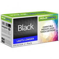 Premium Compatible Konica Minolta 104B Black Twin Pack Toner Cartridges (8936304)