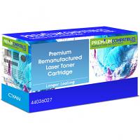 Premium Remanufactured OKI 44036027 Cyan Toner Cartridge (44036027)
