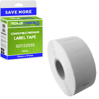 Premium Compatible Dymo 11355 White 19mm x 51mm Multipurpose Label Tape - 500 Labels (S0722550)