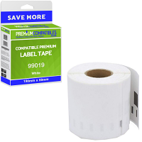 Premium Compatible Dymo 99019 Large Lever Arch File Labels 190mm x 59mm - 110 Labels (S0722480)