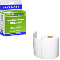Premium Compatible Dymo S0904980 Black On White 104mm x 159mm Extra Large Shipping Label Tape - 220 Labels (S0904980)