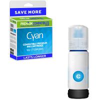 Premium Compatible Epson 102 Cyan Ink Bottle (C13T03R240)