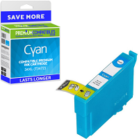 Premium Compatible Epson 34XL Cyan High Capacity Ink Cartridge (C13T34724010)