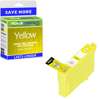 Premium Compatible Epson 34XL Yellow High Capacity Ink Cartridge (C13T34744010)