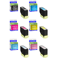 Premium Compatible Epson 378XL C, M, Y, K, LC, LM Multipack High Capacity Ink Cartridges (C13T37984010)