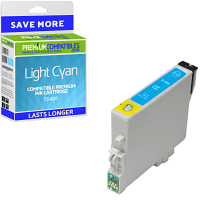 Premium Compatible Epson T0485 Light Cyan Ink Cartridge (C13T04854010)