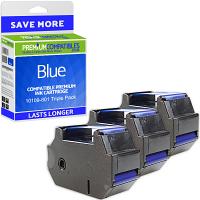 Premium Remanufactured Francotyp Postalia 51.0019.5303.00 Blue Triple Pack Franking Ink Cartridges (10109-801)