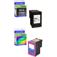 Premium Remanufactured HP 301XL Black & Colour Combo Pack High Capacity Ink Cartridges (CH564EE & CH563EE)