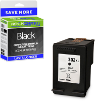 Premium Remanufactured HP 302XL Black High Capacity Ink Cartridge (F6U68AE)