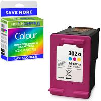 Premium Remanufactured HP 302XL Colour High Capacity Ink Cartridge (F6U67AE)