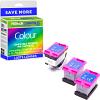 Premium Remanufactured HP 302XL High Capacity 3 x Tri-Colour Ink Tanks & Printhead Multipack (F6U67AE)
