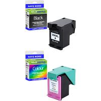 Premium Remanufactured HP 304XL Black & Colour Combo Pack High Capacity Ink Cartridges (N9K08AE & N9K07AE)