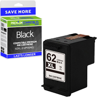 Premium Remanufactured HP 62XL Black High Capacity Ink Cartridge (C2P05AE)