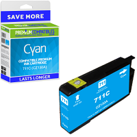 Premium Compatible HP 711C Cyan Ink Cartridge (CZ130A)
