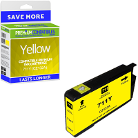 Premium Compatible HP 711Y Yellow Ink Cartridge (CZ132A)