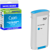 Premium Remanufactured HP 727 Cyan High Capacity Ink Cartridge (B3P19A)
