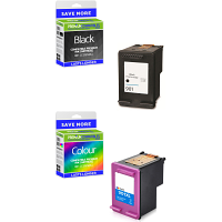 Premium Remanufactured HP 901 Black & Colour Combo Pack Ink Cartridges (CC653A & CC656A)