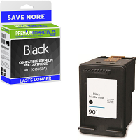 Premium Remanufactured HP 901 Black Ink Cartridge (CC653A)