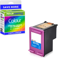 Premium Remanufactured HP 901 Colour Ink Cartridge (CC656A)