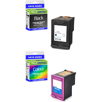 Premium Remanufactured HP 901XL / 901 Black & Colour Combo Pack Ink Cartridges (SD519AE)