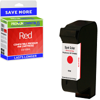 Premium Remanufactured HP C6168A Red Spot Colour Addressing Machine Ink Cartridge (10089-803)