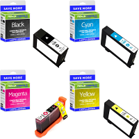 Premium Compatible Lexmark 100XL CMYK Multipack High Capacity Ink Cartridges (14N1921E)