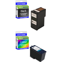Premium Remanufactured Lexmark 32 / 33 Black & Colour Combo Pack Ink Cartridges (80D2951)