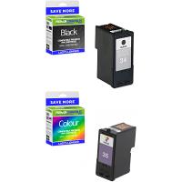 Premium Remanufactured Lexmark 34XL / 35XL Black & Colour Combo Pack High Capacity Ink Cartridges (18C0034E & 18C0035E)