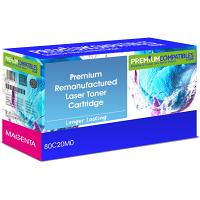 Premium Remanufactured Lexmark 802M Magenta Toner Cartridge (80C20M0)