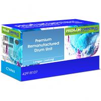Premium Remanufactured OKI 42918107 Cyan Image Drum Unit (42918107)