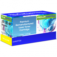 Premium Remanufactured OKI 44469704 Yellow Toner Cartridge (44469704)