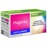 Premium Compatible OKI 44469705 Magenta High Capacity Toner Cartridge (44469705 XL)