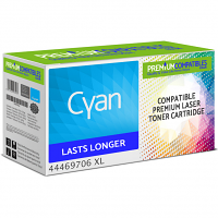 Premium Compatible OKI 44469706 Cyan High Capacity Toner Cartridge (44469706 XL)