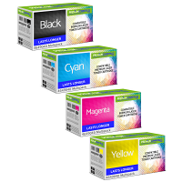 Premium Compatible Oki 4649040 CMYK Multipack Toner Cartridges (46490404/ 46490403/ 46490402/ 46490401)