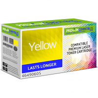 Premium Compatible Oki 46490605 Yellow High Capacity Toner Cartridge (46490605)