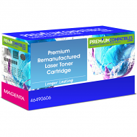 Premium Remanufactured Oki 46490606 Magenta High Capacity Toner Cartridge (46490606)