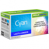Premium Compatible Oki 46490607 Cyan High Capacity Toner Cartridge (46490607)