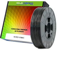 Premium Compatible PETG 1.75mm Black 1kg 3D Filament (97-PET-175BK1)