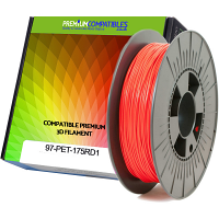 Premium Compatible PETG 1.75mm Red 1kg 3D Filament (97-PET-175RD1)