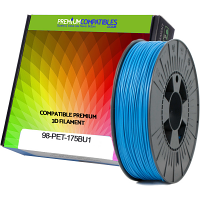 Premium Compatible PETG 1.75mm Sky Blue 0.5kg 3D Filament (98-PET-175BU1)