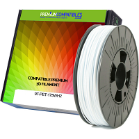 Premium Compatible PETG 1.75mm Snow White 1kg 3D Filament (97-PET-175WH2)