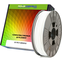 Premium Compatible PETG 2.85mm Snow White 1kg 3D Filament (97-PET-285WH2)